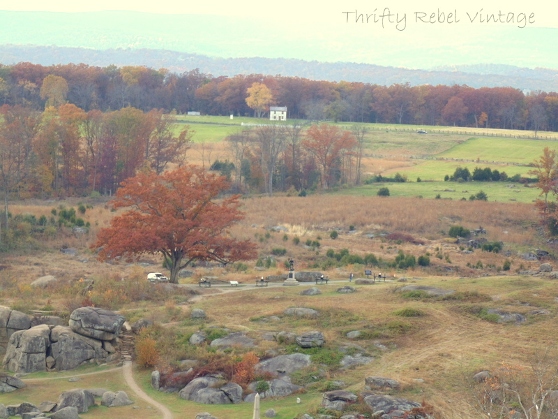 View from Little Round Top in Gettyburg