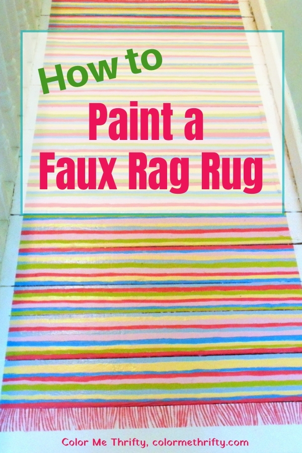 How to paint a faux rag rug with leftover paints