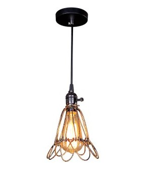 Italy Style Pendant Light with Bird Cage Shade