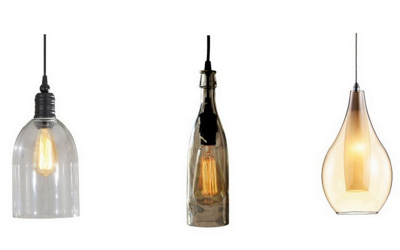 bottle pendant lighting
