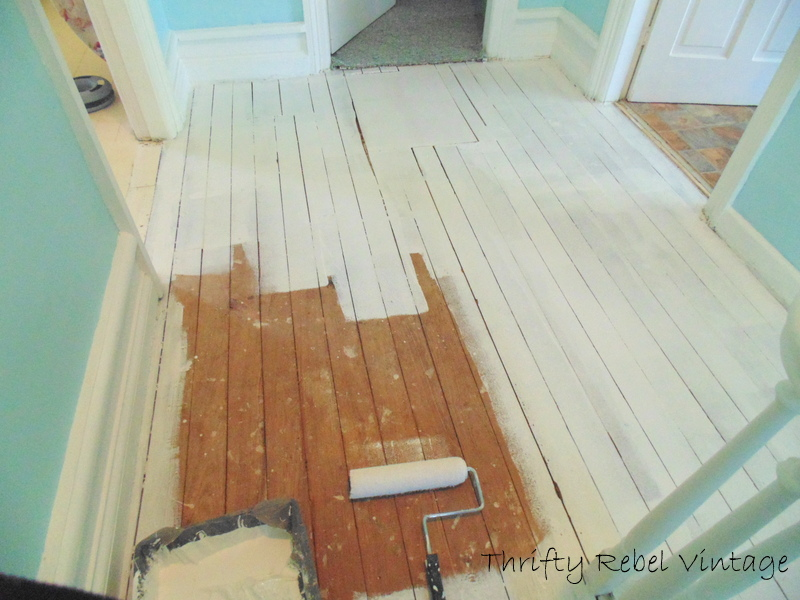 painting an old wooden floor - Paint For Wooden Floor