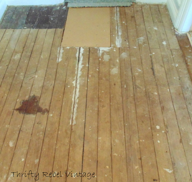 painting an old wooden floor