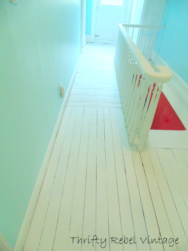 pink rag rug area before