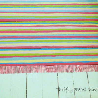 Painting a Faux Rag Rug