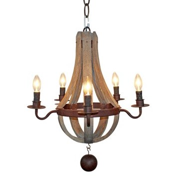 wooden pendant chandelier