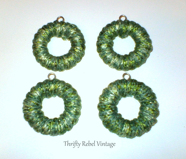 curtain ring wreath ornaments