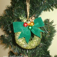 Curtain Ring Wreath Ornaments