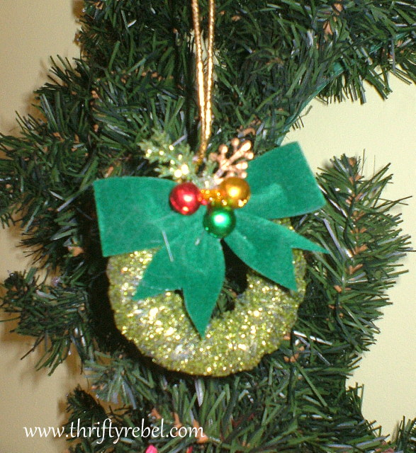Curtain Ring Wreath Ornaments Thrifty Rebel Vintage