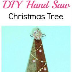DIY Repurposed Hand Saw Wall Christmas Tree