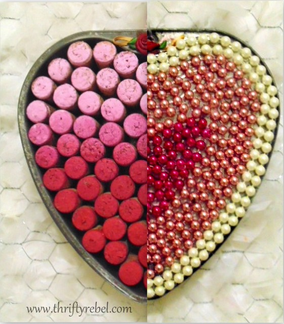 Repurposed Baking Pan Heart