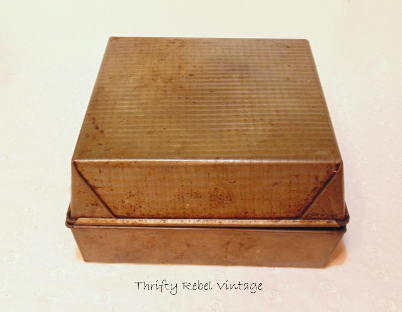 Making a repurposed baking pan gift box