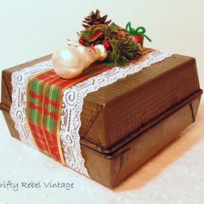 Repurposed Baking Pans Gift Box