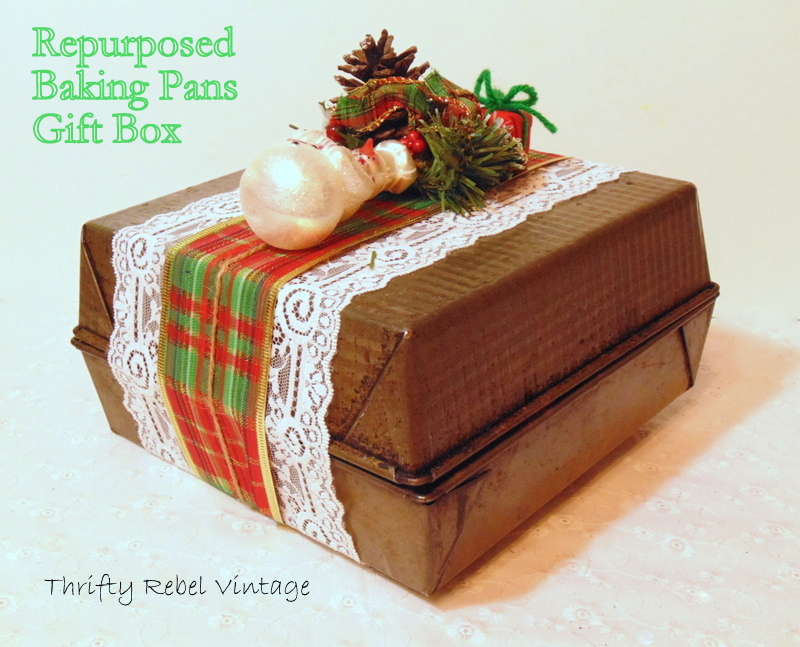 repurposed baking pans gift box