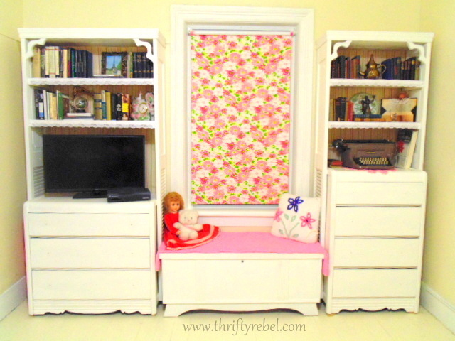 DIY Bifold Door and Dresser Bookcases