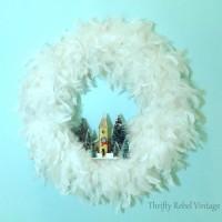Easy Feather Boa Wreath