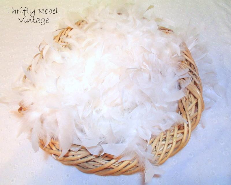 feather boa wreath