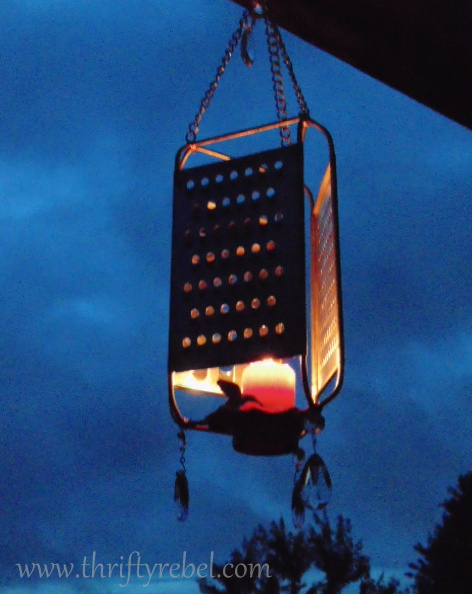 repurposed grater lantern