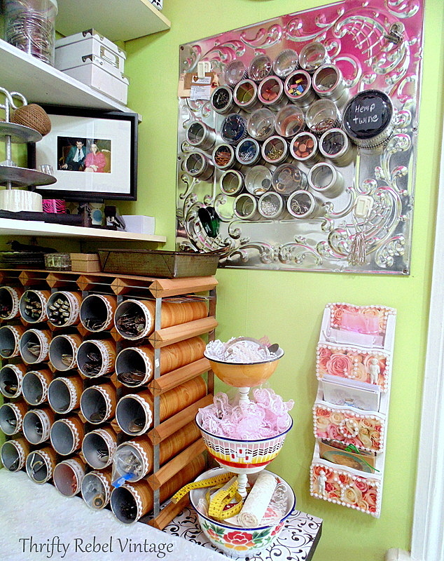 Craft Room Wall Organizer