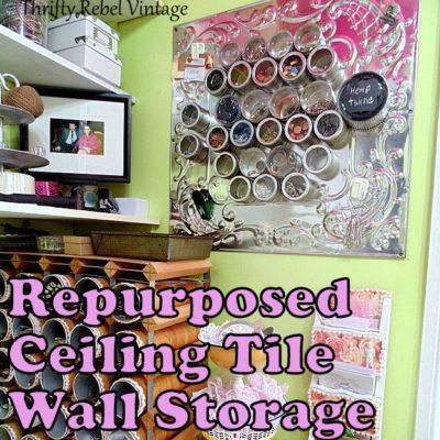 Repurposed Craft Room Wall Organizer