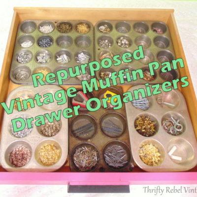 Vintage Repurposed Drawer Organizers