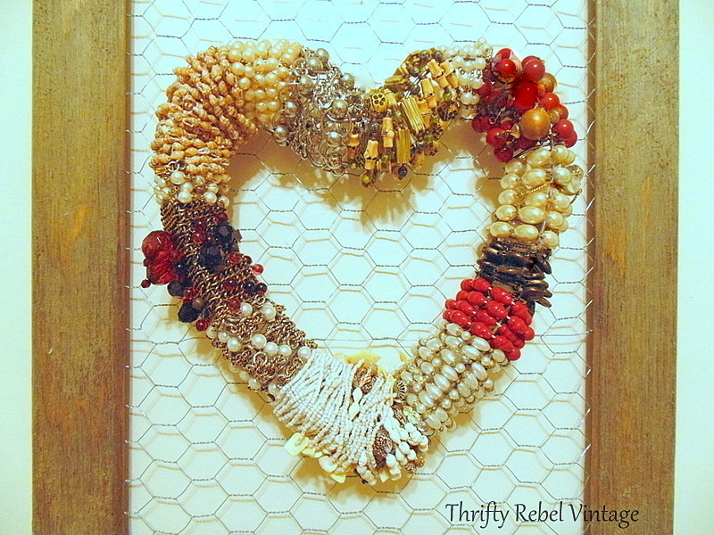 necklace heart wreath
