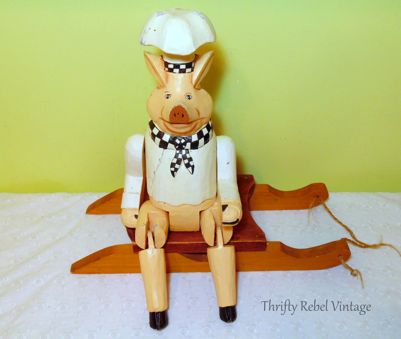 wooden pig chef