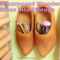 Repurposed Wooden Shoes