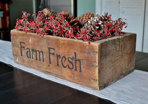 Farm Fresh Wooden Crate