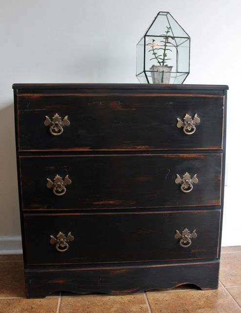 Vintage Black dresser Diana's #18