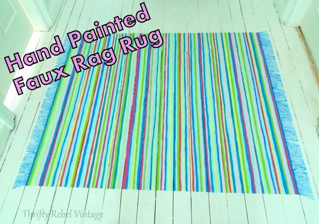 blue rag rug 94b