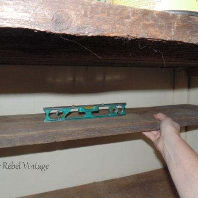 Craft Room Closet Shelves DIY