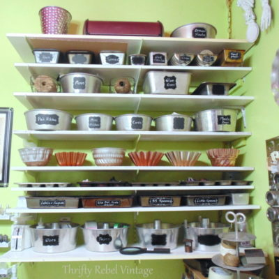 Repurposed Bakeware Craft Room Storage
