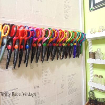 Easy Craft Scissors Storage