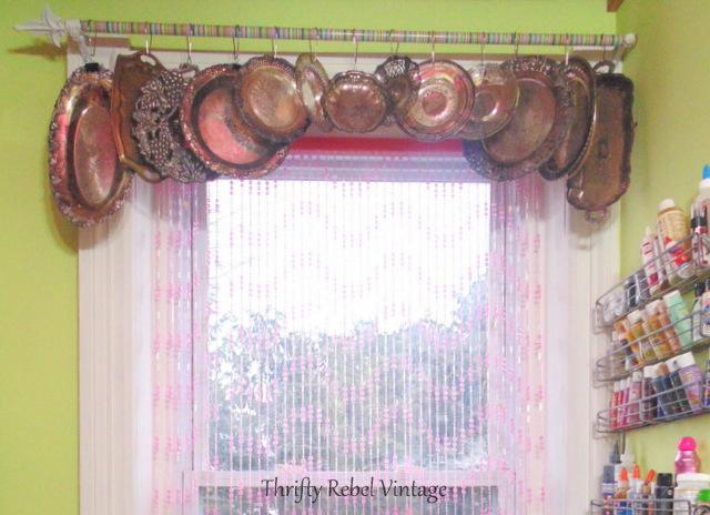 silver tray window valance