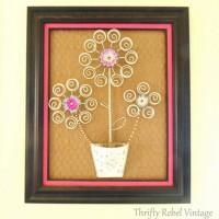 Repurposed Tealight Tree Flower Art