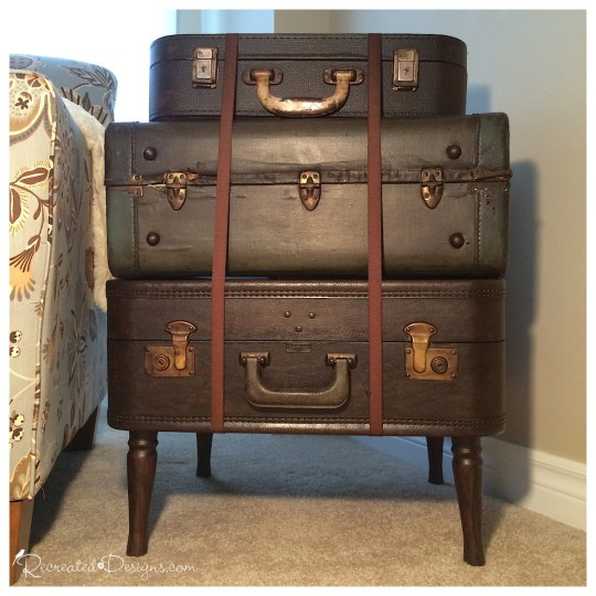 three-vintage-suitcases-turned-into-table Diana's Guest Pick #17