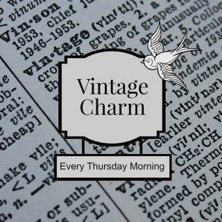 vintage charm button