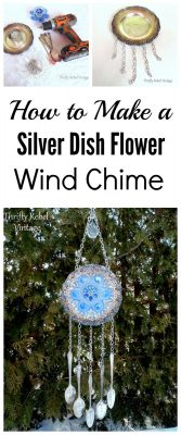 How to Make a Dish Flower Wind Chime