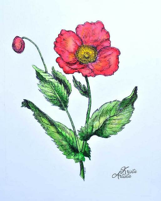 Handmade Botanical Painting