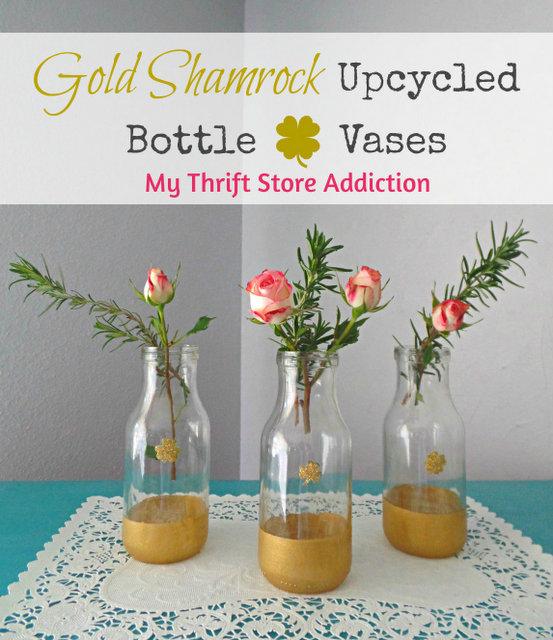 Label 3 shamrock vases