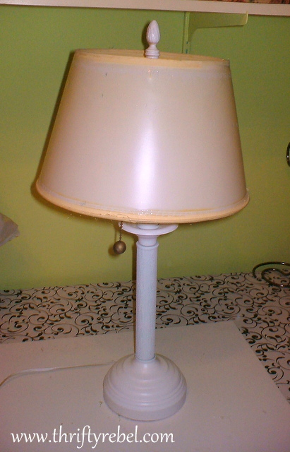 scarf lampshade makeover