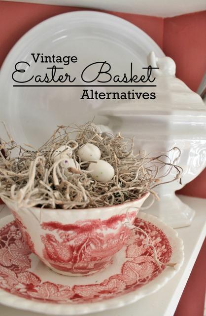 Vintage Cup and Saucer Easter Basket alternative at Adirondack Girl @ Heart #21