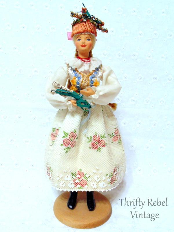 cepelia polish folk art doll