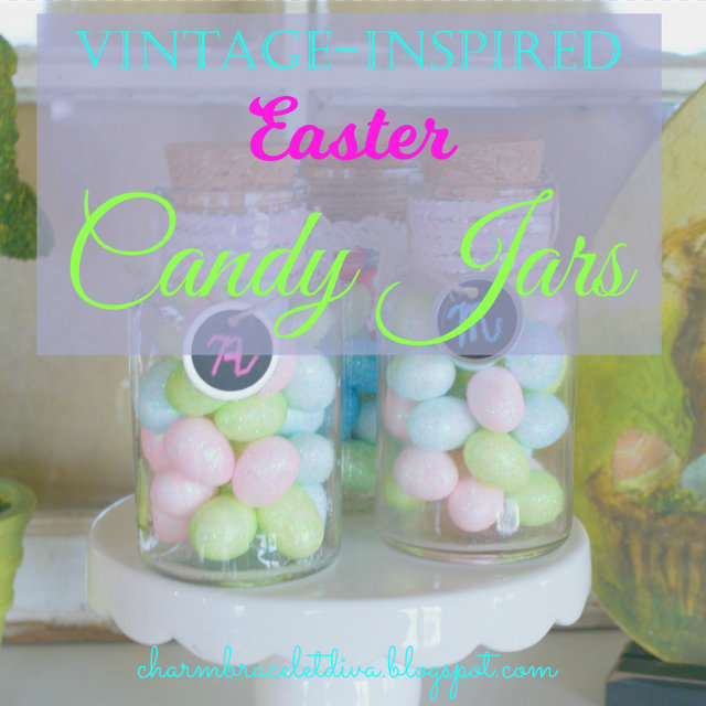 Vintage inspired Easter candy jars