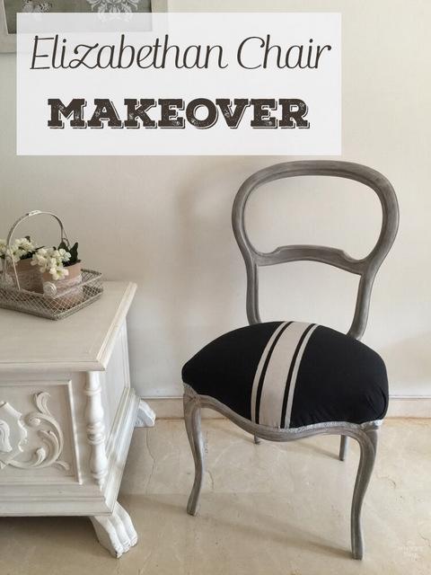 elizabethan chair makeover