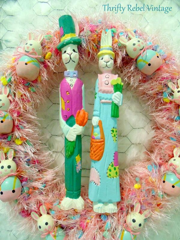 bunny easter wreath