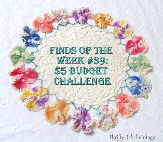 pansy round doily with caption