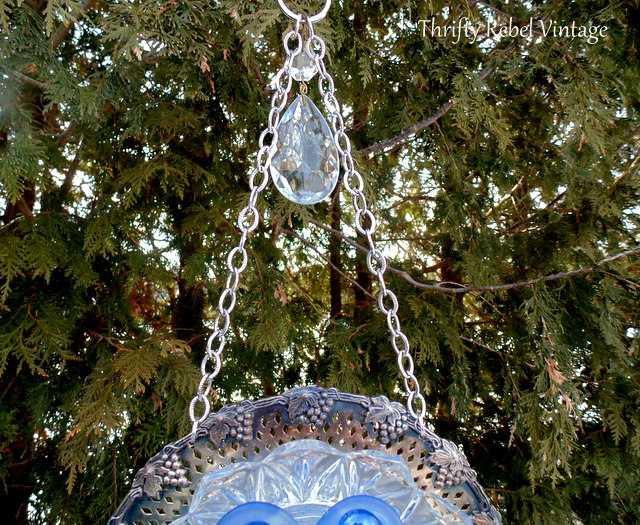 plate flower wind chime 91