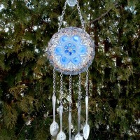 Garden Plate Flower Wind Chime