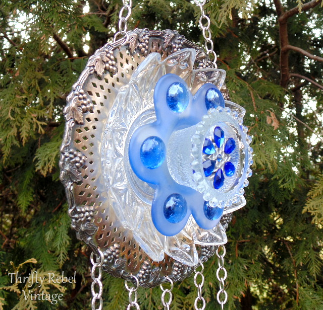 plate flower wind chime 95